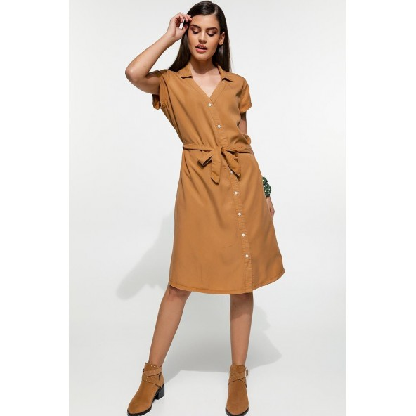 Edward WP-N-DRS-S20-005-ALMOND dress