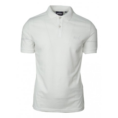 Superdry M1110019A -01C classic micro lite s/s pique polo optic