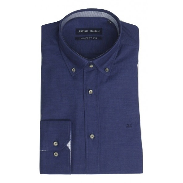 ARTISTI ITALIANI AI18255/CR3D navy shirt