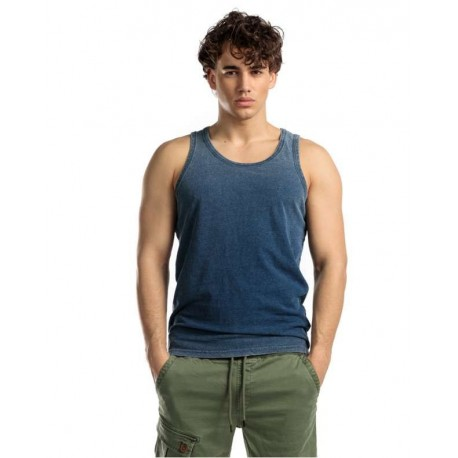 Devergo 1D014014SL0125 45 men singlet blue denim