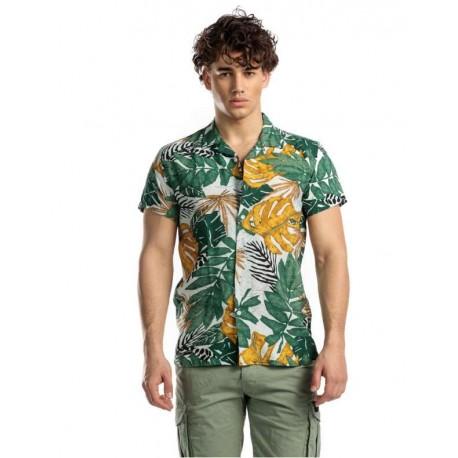 Devergo 1D015008SS1370 22 men shirt green