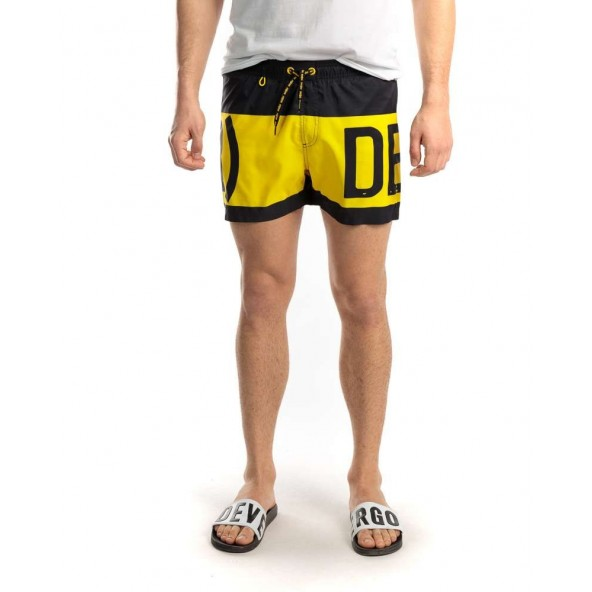 Devergo 1D011055SP6000 16 men beach shorts black/yellow