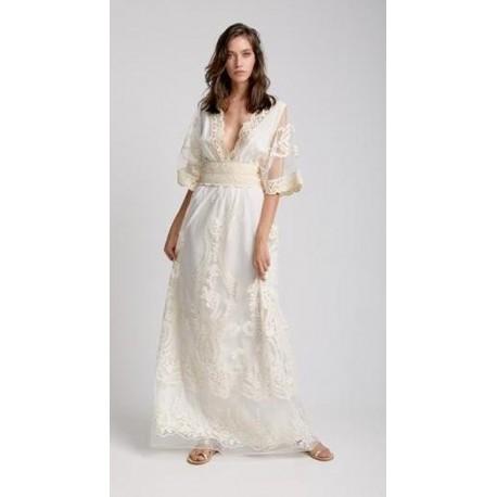 Moutaki 20.07.43 ekru Φόρεμα