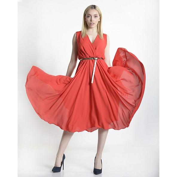 Paranoia 13215 red φόρεμα