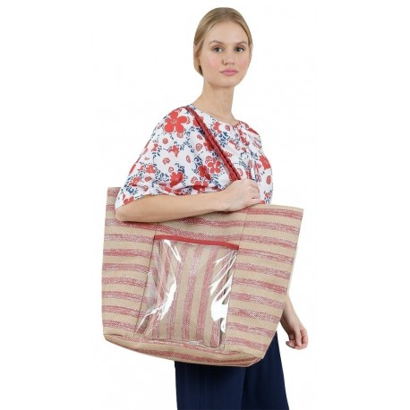 Molly bracken H119P20 Striped beach bag
