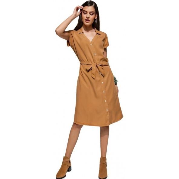 Edward WP-N-DRS-S20-005-ALMOND dress