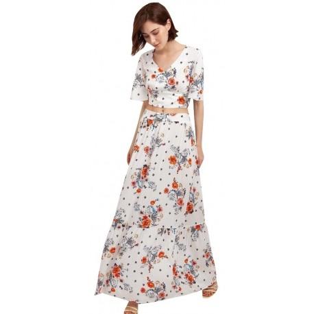 Desiree 02.32029 φλοράλ φούστα