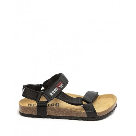 Devergo DE-IM2058CA 20SS donald black canvas men s sandals