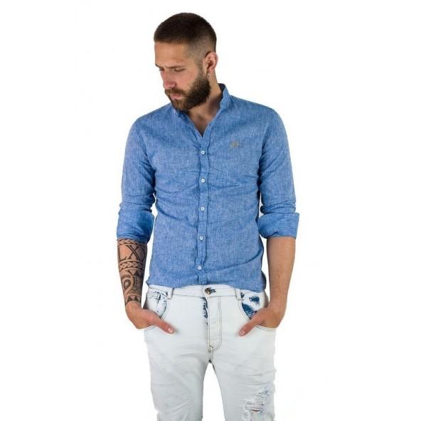 Stefan 9030 - s/s 20 shirt indigo
