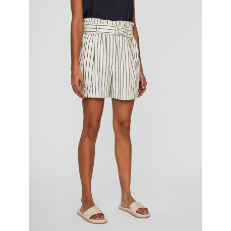 Vero moda 10230741 STRIPED SHORTS night sky/birch with