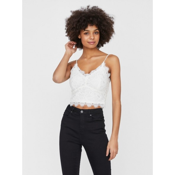 Vero moda 10229108 crop top corset LOVISA snow white