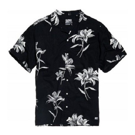 Superdry M4010004A-T7E Hawaiian Box s/s shirt Venice Flower Black