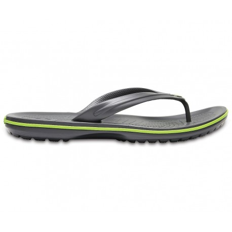 Crocs crocband flip 11033-0A1 graphite/volt green
