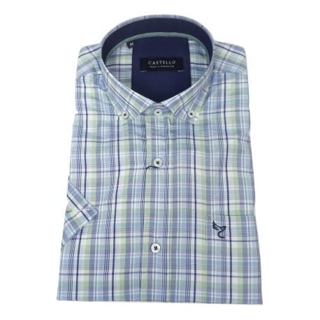 Castello 020-3000 2058 shirt καρό blue