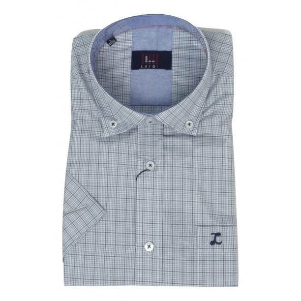 Luigi 020-3300 2017 shirt καρό blue