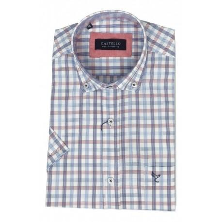 Castello 020-3300 2026 shirt καρό blue