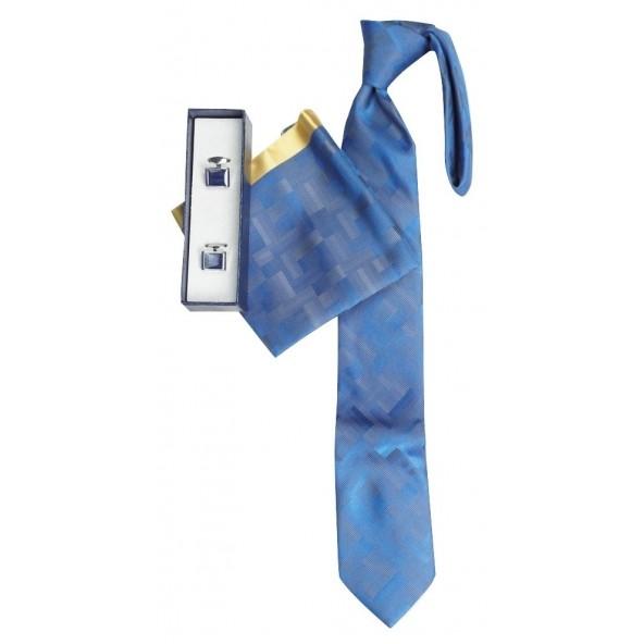 Me and my 20-18 γραβάτα-μανντήλι-μανικετόκουμπα μπλε