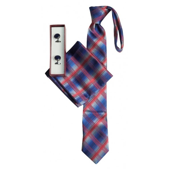 Me and my 20-18 γραβάτα-μανντήλι-μανικετόκουμπα μπορντώ