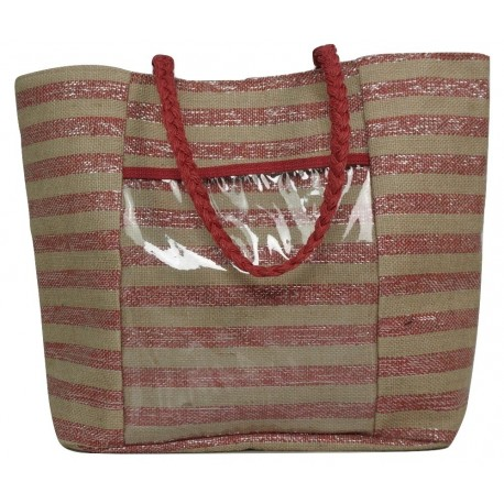 Molly bracken H119P20 Striped beach bag