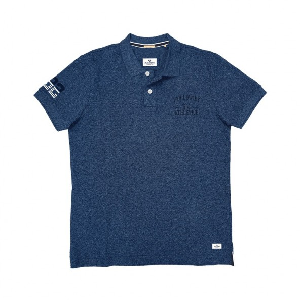 Double outfitters PS-242SVA polo shirt blue melanze