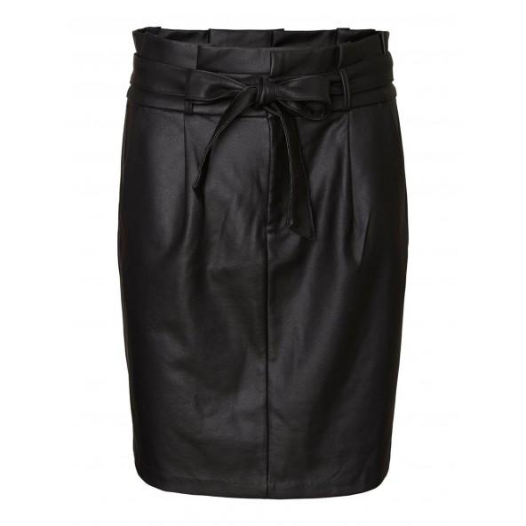 Vero moda 10233919 VMEVA HR PAPERBAG SHORT COATED SKT NOOS BLACK