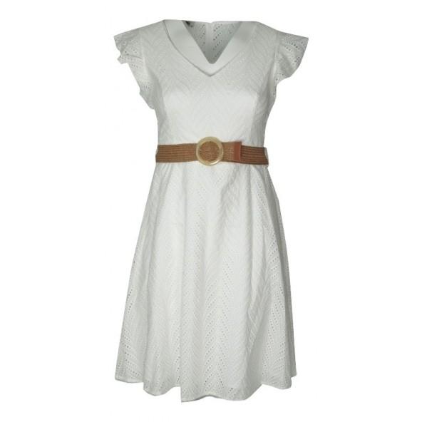 Mara's AK20/2092 φόρεμα λευκό