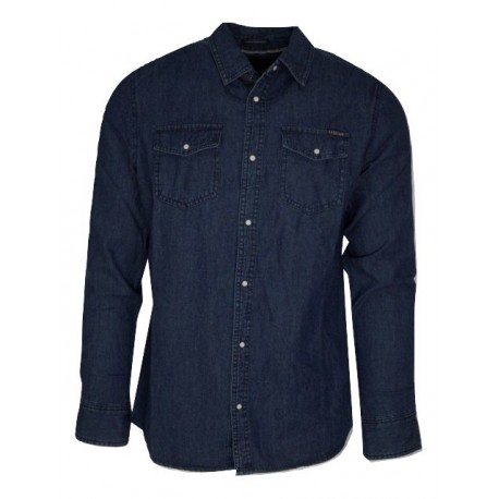 Funky buddha FBM002-061-05 πουκάμισο md blue