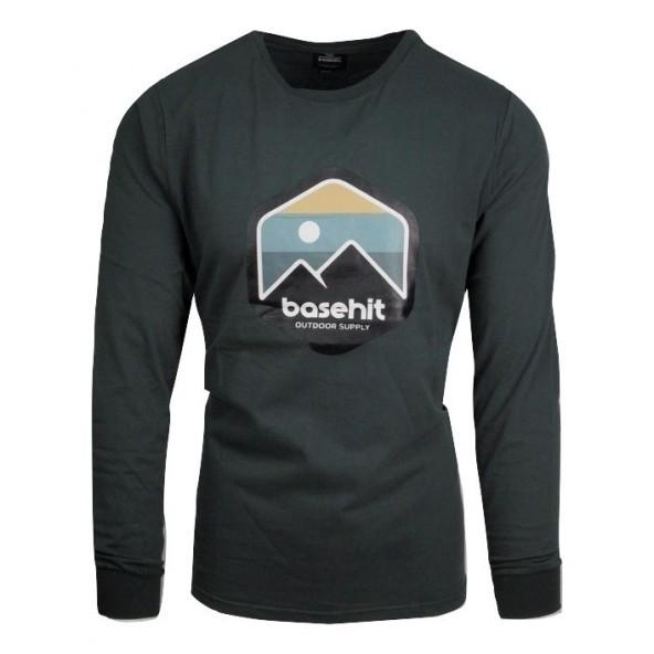Basehit 202.BM31.14 μπλούζα forest green
