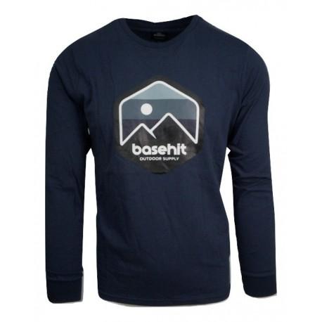 Basehit 202.BM31.14 μπλούζα midnight blue