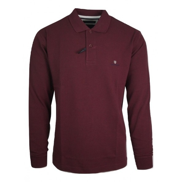 Navy and Green 24GE.500.3 DK WINE POLO ΜΠΛΟΥΖΑ