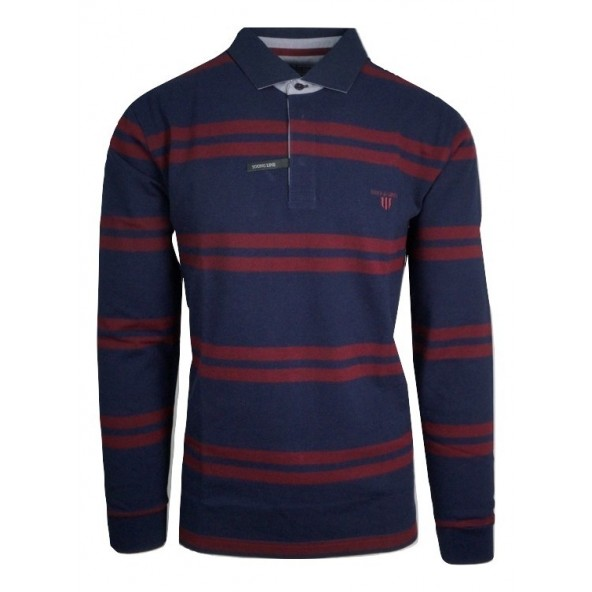 Navy and Green 24GE.857/YL MD BLUE/DK WINE POLO ΜΠΛΟΥΖΑ