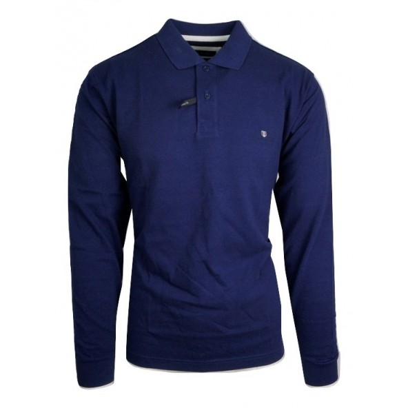 Navy and Green 24GE.500.3 BLUE POLO ΜΠΛΟΥΖΑ