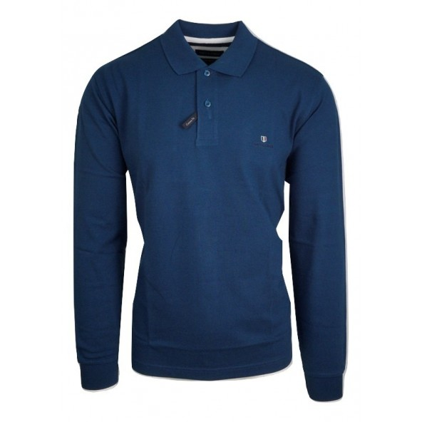 Navy and Green 24GE.500.3 DK PETROL POLO ΜΠΛΟΥΖΑ