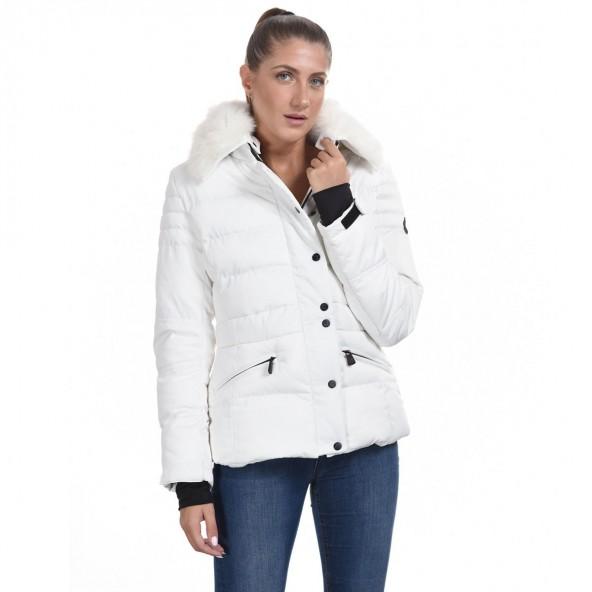 Splendid 44-101-053 κοντό μπουφάν λευκό
