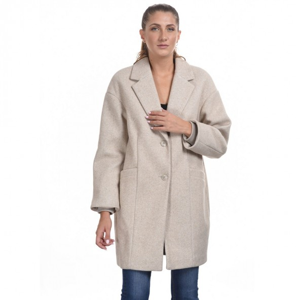 Splendid 44-101-074 μακρύ παλτό μπεζ