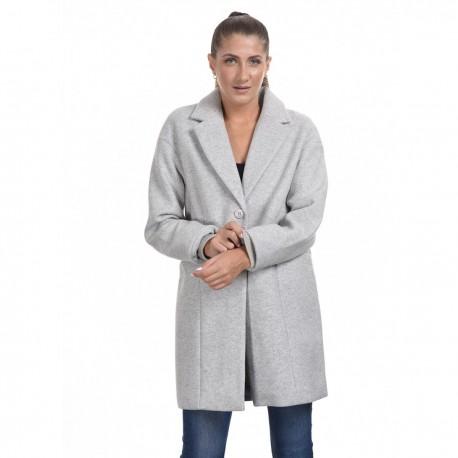 Splendid 44-101-074 μακρύ παλτό ανοιχτό γκρι