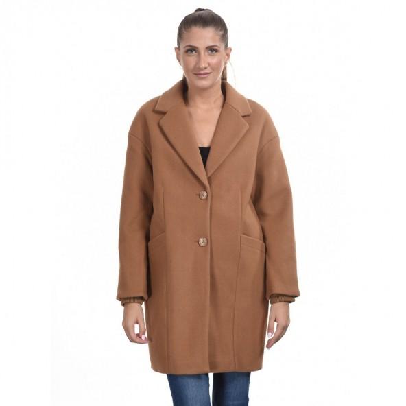 Splendid 44-101-074 μακρύ παλτό καμηλό