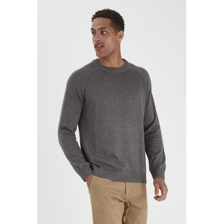 Solid 21104245 Knitted pullover grey mel