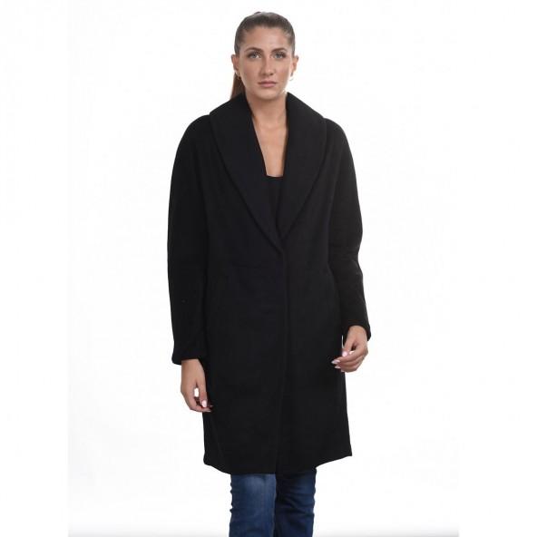 Biston 44-101-028 μακρύ παλτό Μαύρο