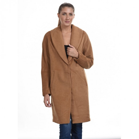Biston 44-101-028 μακρύ παλτό Καμηλό