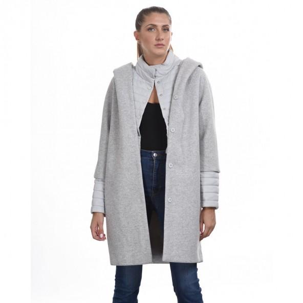 Biston 44-101-033 μακρύ παλτό Αν Γκρι