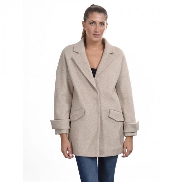 Biston 44-101-049 ντεμί παλτό μπεζ