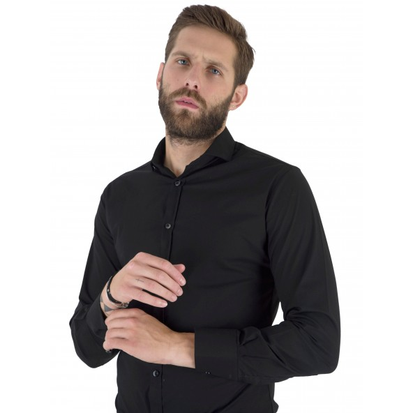 Stefan 9037-F/W 21shirt black