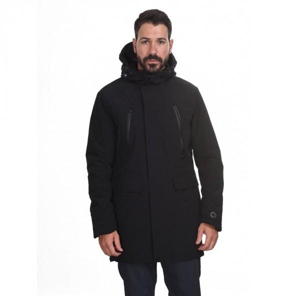 Biston 44-201-007 μπουφάν μακρύ μαύρο