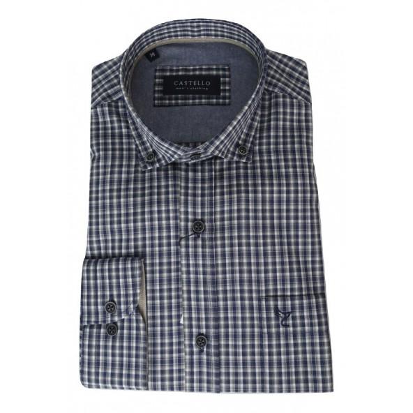 Castello 020-3000 2045 shirt μπλε