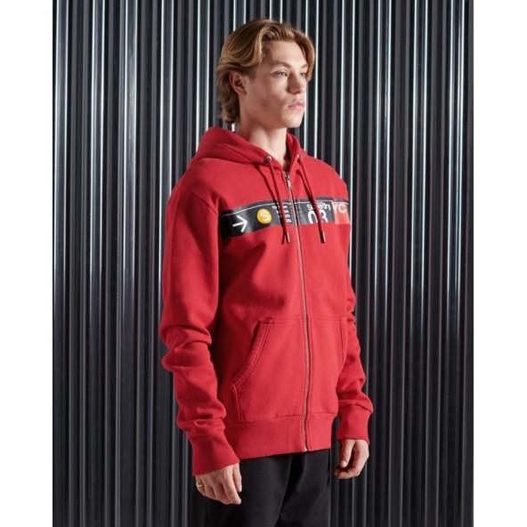 Superdry M2010415B WA7 Ζακέτα κόκκινη
