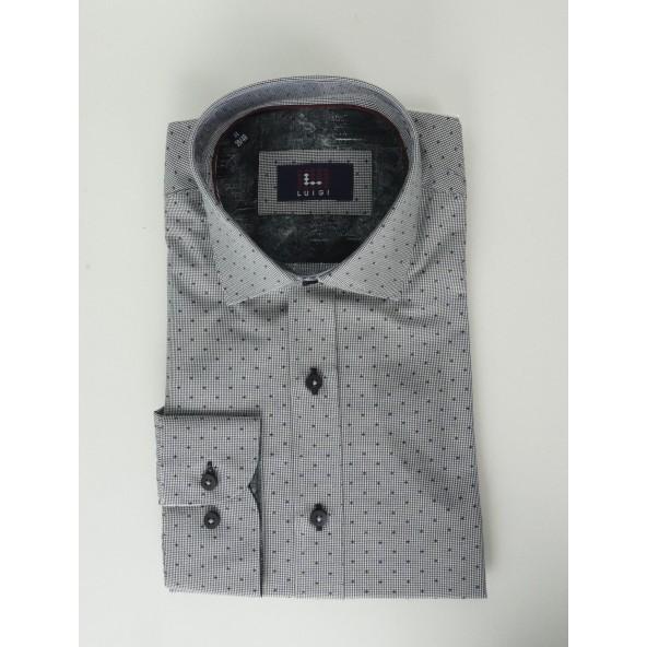 Luigi 019-5022 19659 shirt lt grey