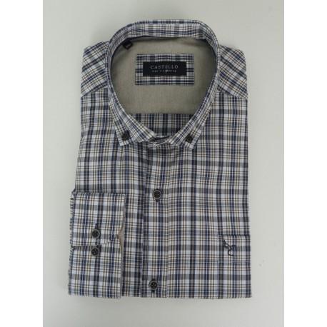 Castello 020-3000 2046 πουκάμισο navy