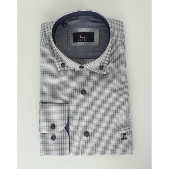 Luigi 020-3000 2036 shirt καφε