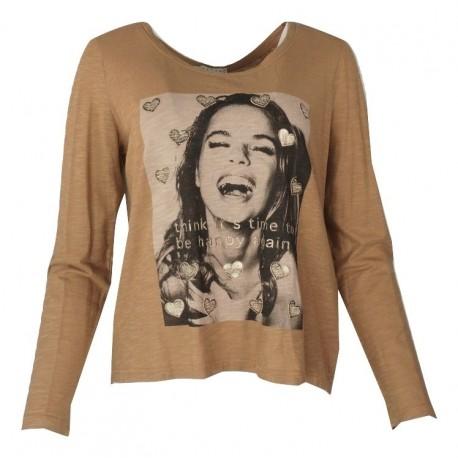 Lynne 136-510002 μπλούζα Caramel